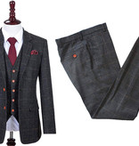 Shelby Brothers collection by Orange Fire 3-delig  pak Grey Windowpane Tweed