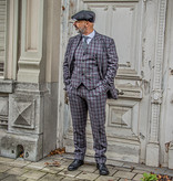 Shelby Brothers collection by Orange Fire 3-delig tweed pak Grey Red Windowpane Plaid