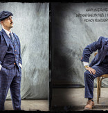Shelby Brothers collection by Orange Fire 3-delig tweed pak Navy Overcheck Twill