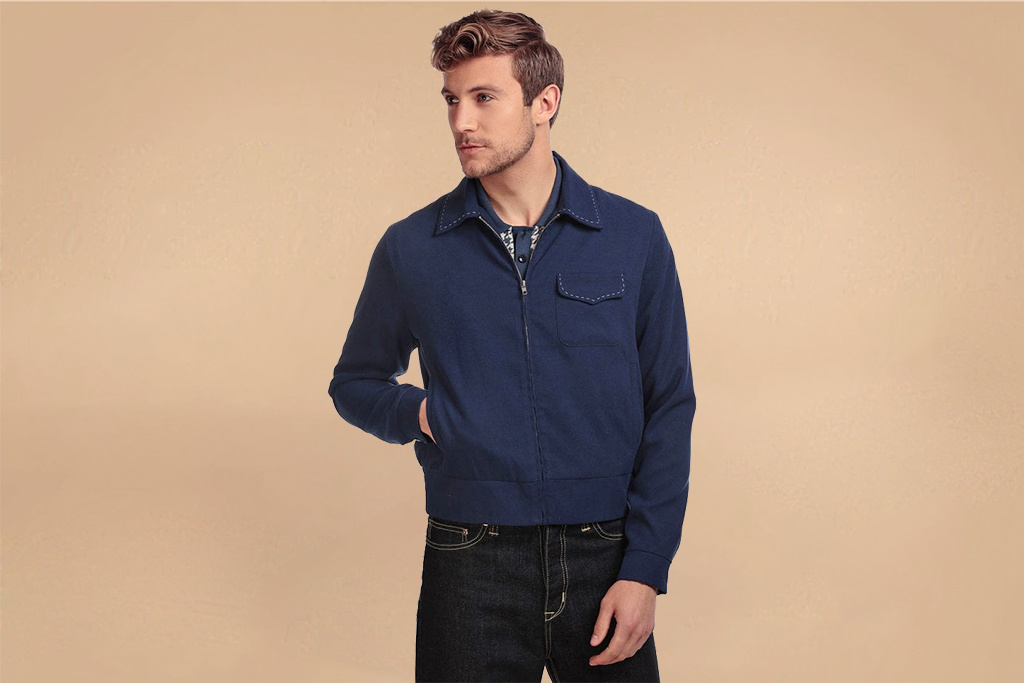 Collectif 50s Morgan Plain Jacket Blue