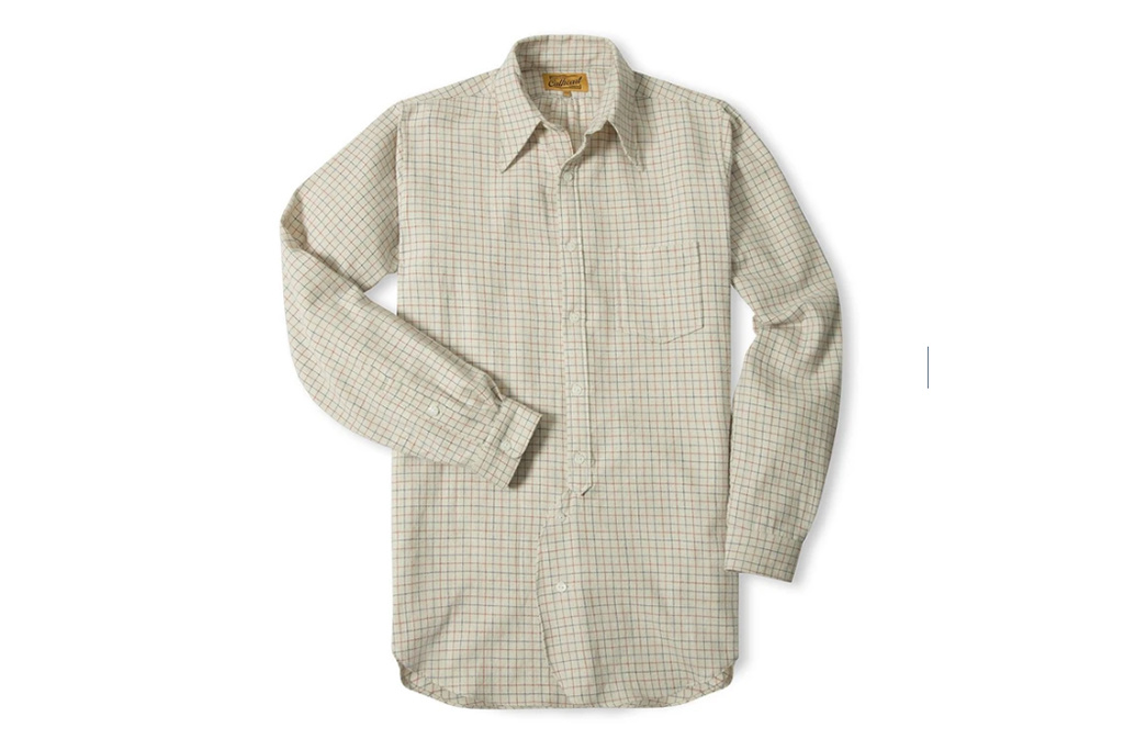 Simon James Cathcart Cream  Tattersall shirt