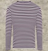 Collectif 1951 Marine  Striped Shirt Burgundy