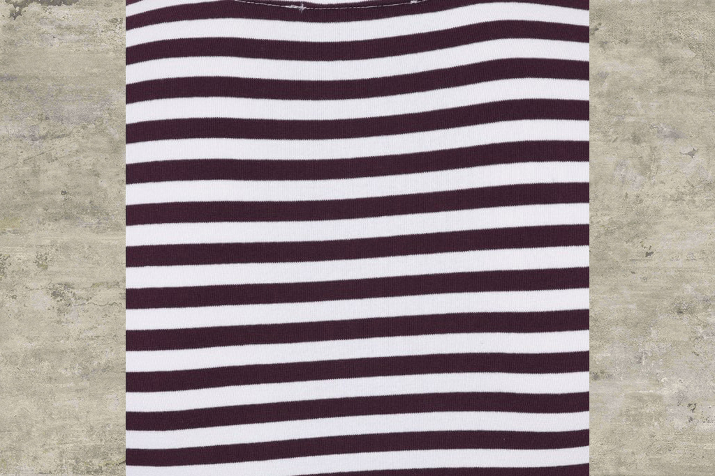 Collectif Jim Striped Burgundy