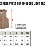 Pike Brothers 1923 Buccaneer Vest herringbone light brown