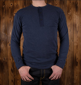 Pike Brothers 1954 Utility Shirt Long Sleeve indigo melange