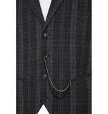Urban Bozz Grey Check Collared Tweed Waistcoat