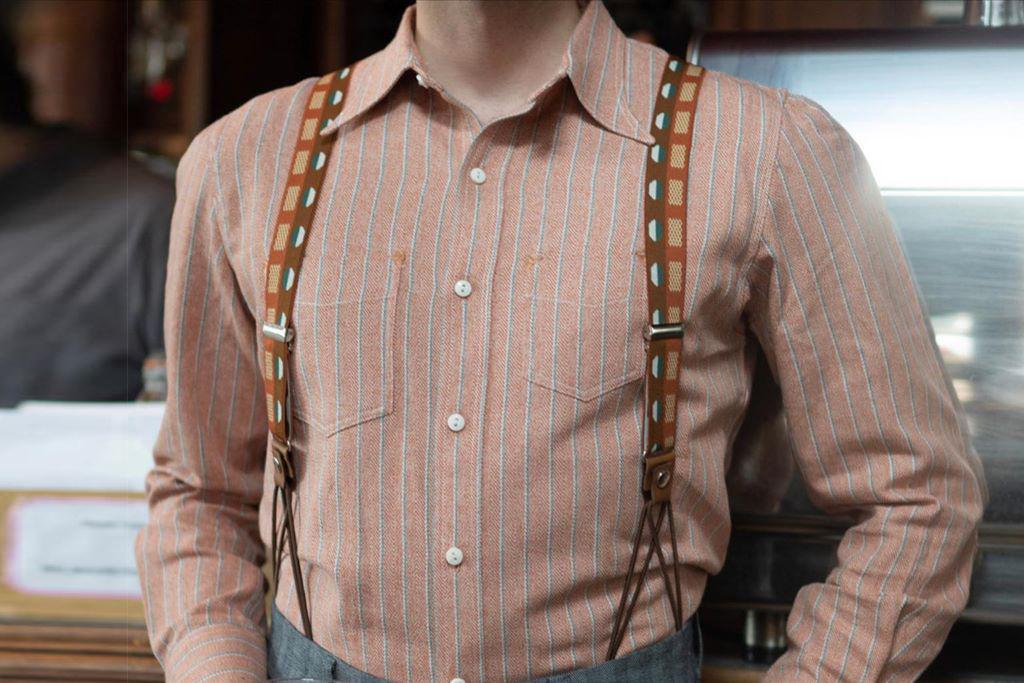 Simon James Cathcart 1928 Biscuit Deco Dot Braces