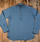 Pike Brothers 1923 Buccaneer Shirt police blue linen