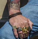 Josh Josh© two leather kralen brown