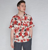Collectif Cesar 40's Hawaii Shirt Crème-Red