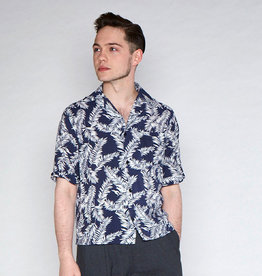 Collectif Cesar 40's Hawaii Shirt Navy-White