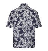 Collectif Cesar 40's Hawaii Shirt Navy-White