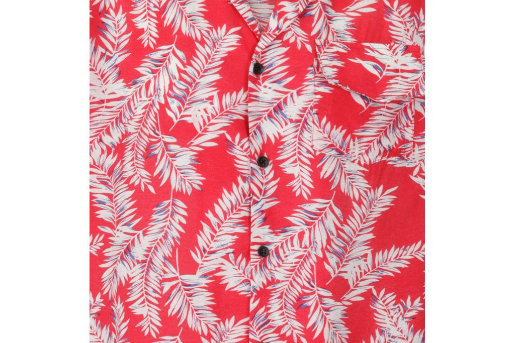 Collectif Cesar 40's Hawaii Shirt Red-White