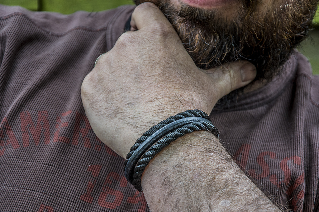 Josh Josh© Double Black Rope Leather
