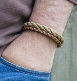 Josh Josh© Rope en gevlochten leer beige