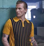 Collectif Pablo Stripped retro Poloshirt