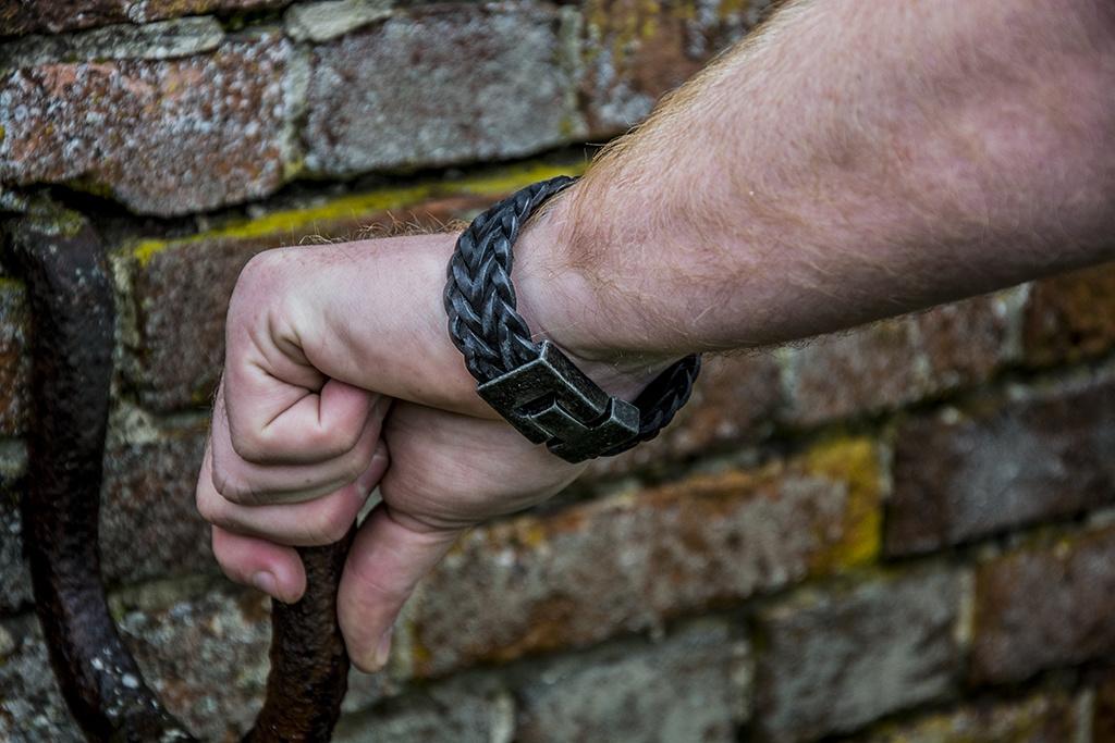 Josh Josh© armband visgraat black XL