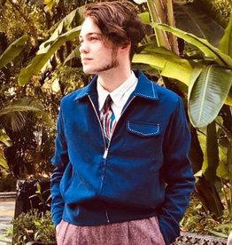 Collectif 50s Morgan Plain Jacket Blue