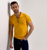 Collectif Retro Polo Jorge Yellow Knitted