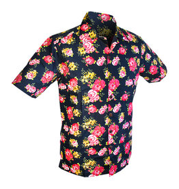 Chenaski Hawaii Shirt Roses Navy