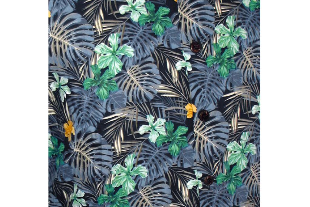 Chenaski Hawaii Shirt Fern Navy