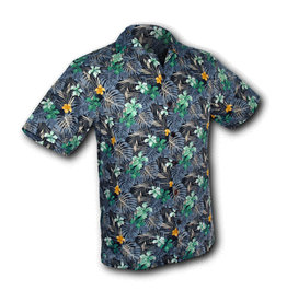 Chenaski Hawaii Shirt Fern Navy