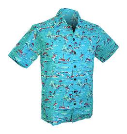 Chenaski Hawaii Shirt Ocean view turquoise