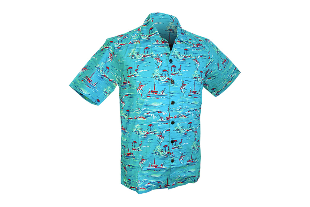 Chenaski Hawaii Shirt Ocean view turquoise