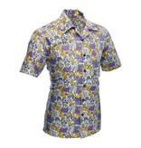 Chenaski Hawaii Shirt Flowers Creme