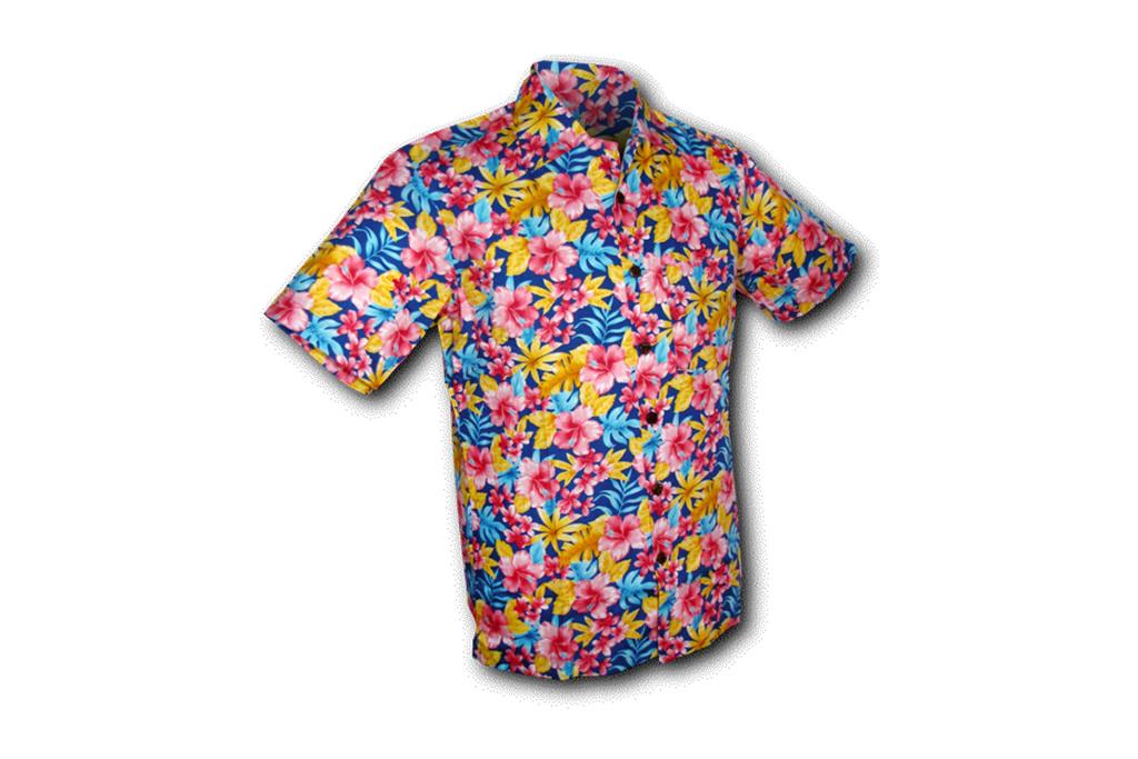 Chenaski Hawaii Shirt Super Bright Flowers