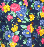 Chenaski Hawaii Shirt Super Bright Flowers Navy