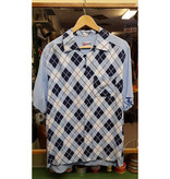 Geronimo Brand 50's Retro Poloshirt Blue Harlequin