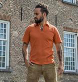 Simon James Cathcart Rust Orange Deco Polo