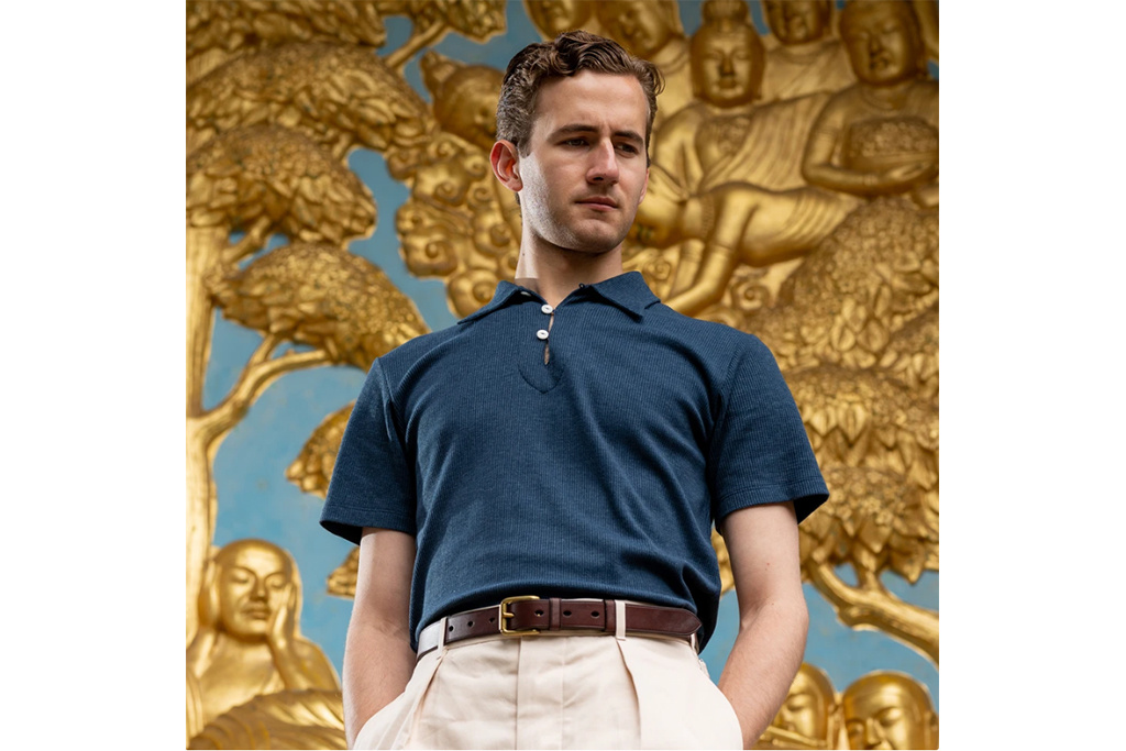 Simon James Cathcart Storm Blue Deco Polo