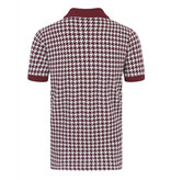 Collectif Pablo Dogtooth Burgundy Polo Shirt