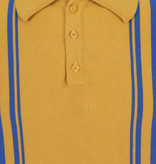 Collectif Retro Polo Jorge Yellow- Blue Knitted