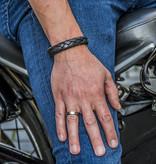 Josh Josh© leren armband Braid Black