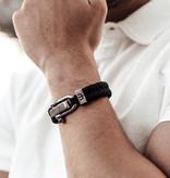 Musthef Dusty black koord armband