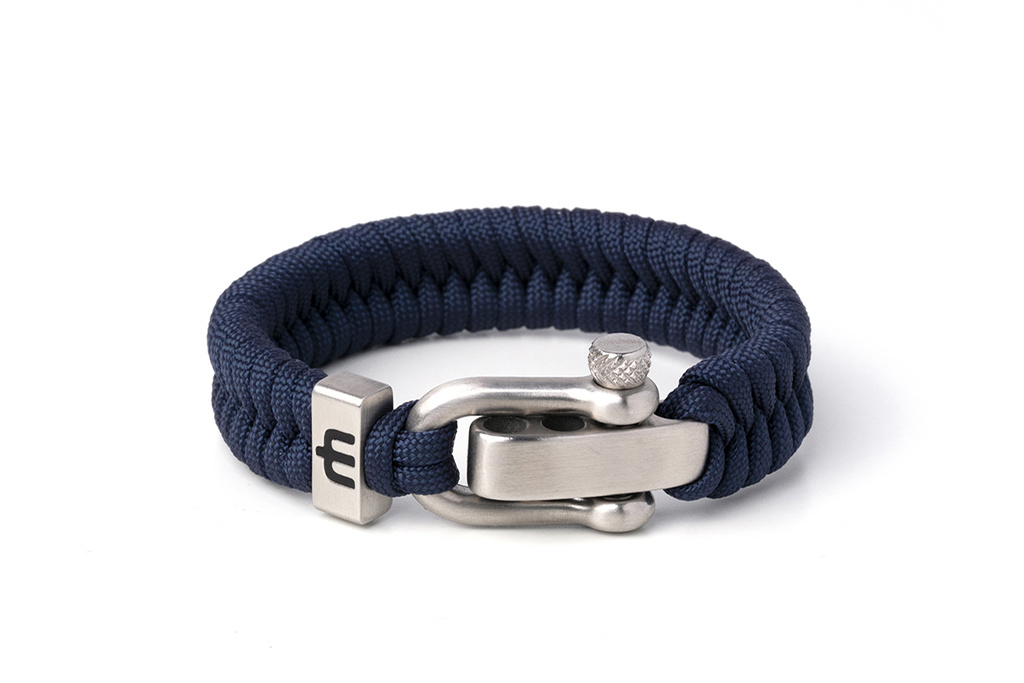 Musthef Classic Navy Blue heren armband