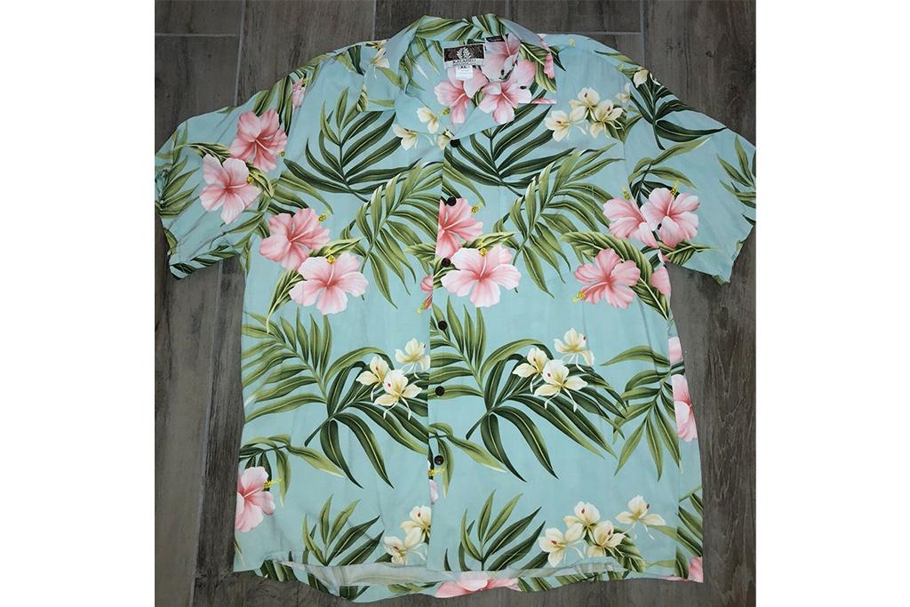 Kalaheo Hawaii Shirt Floral Mint Green