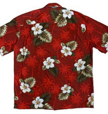 Pacific Legend Hawaii Shirt Floral Red