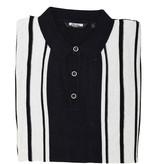 Relco London Retro Polo  Dark-Navy White  Knitted