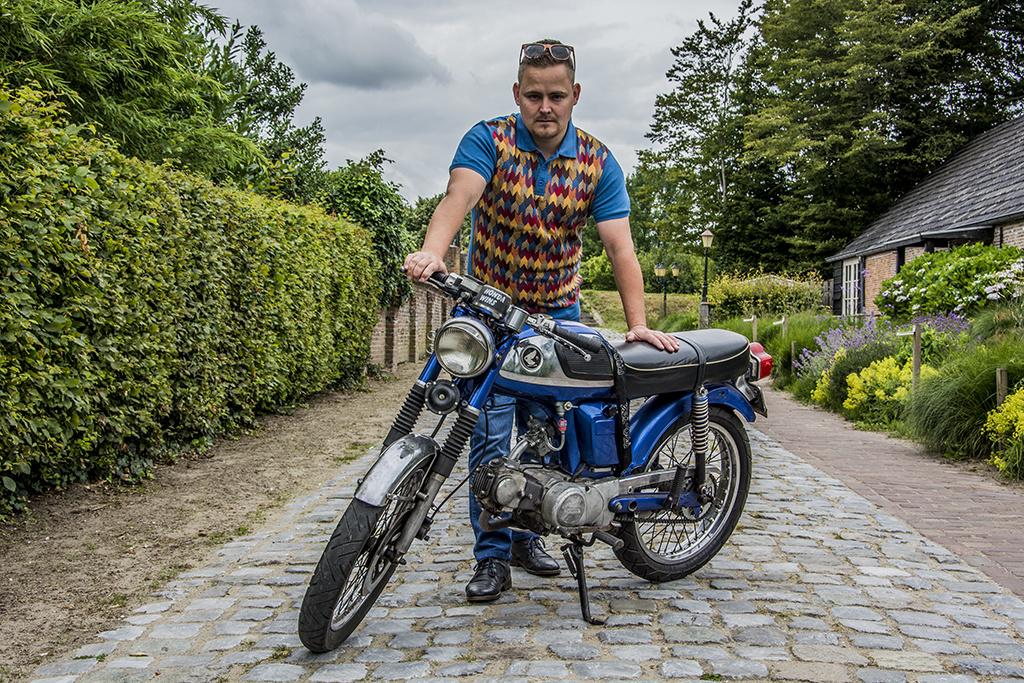 Ato Berlin Retro Polo Enzio Sunny Jacquard