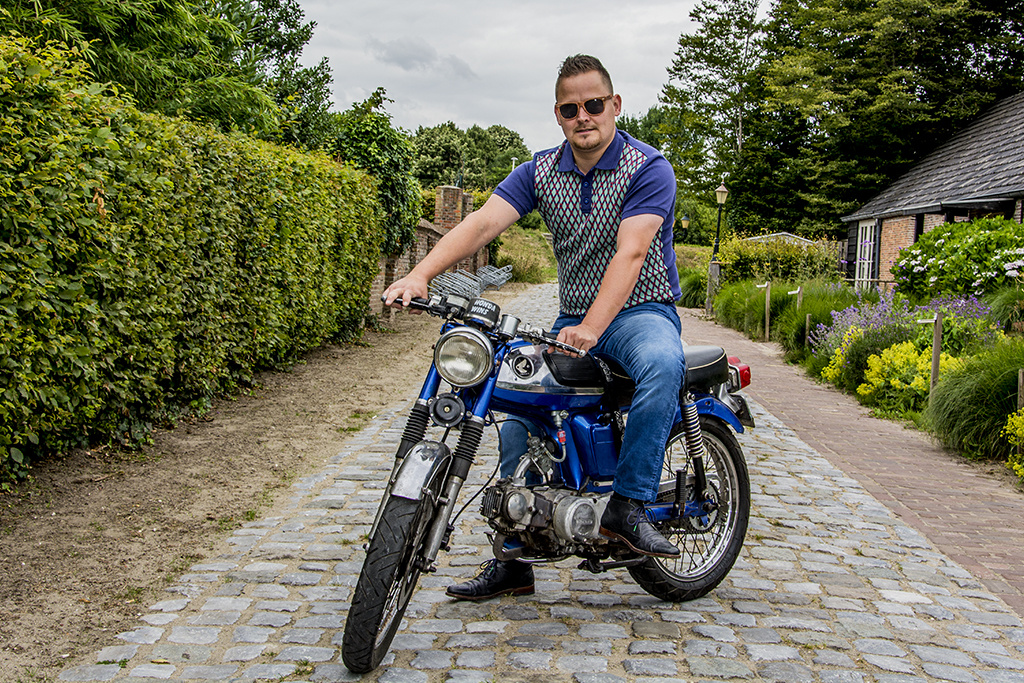 Ato Berlin Retro Polo Enzio Blue Red