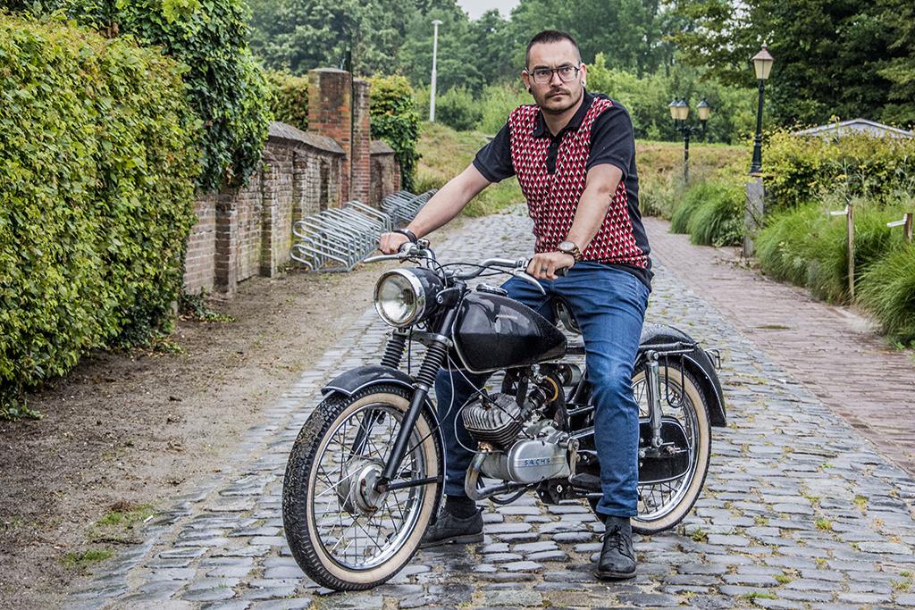 Ato Berlin Retro Polo Enzio Black-Red