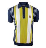 Trojan Retro Polo knit stripes on navy