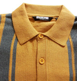 Relco London Retro Polo  Musterd Grey  Knitted