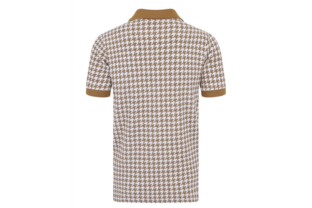 Collectif Pablo Dogtooth Musterd Polo Shirt