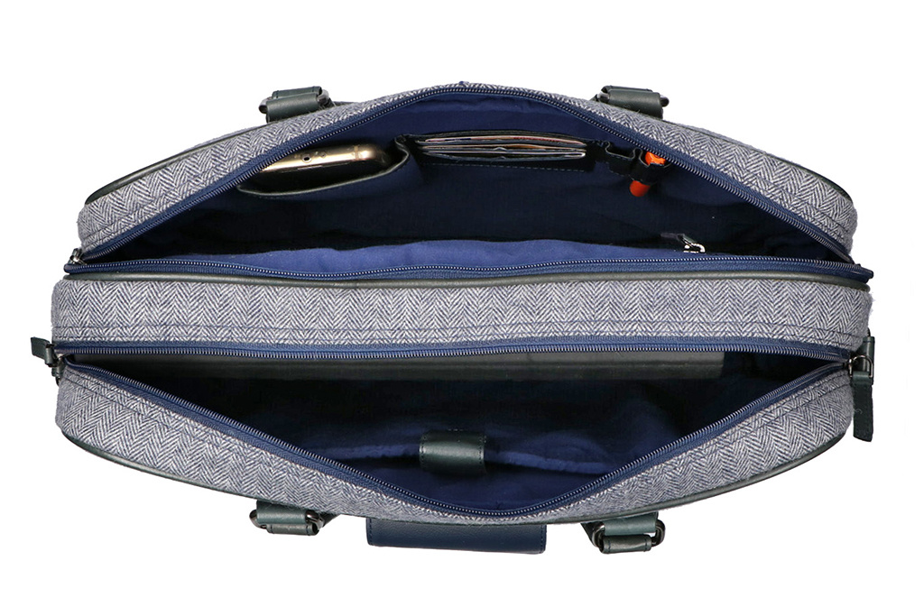 Shelby Brothers collection by Orange Fire Tommy Blue 15 inch laptoptas