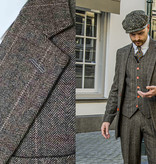 Shelby Brothers collection by Orange Fire 3-delig tweed pak Country Estate Herringbone Green Tweed
